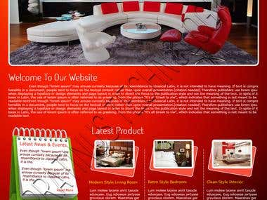Sample of our Interior Design work website