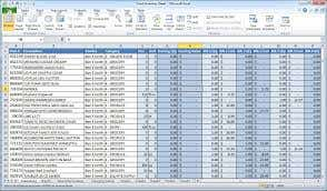 Previous work on excel and data processing