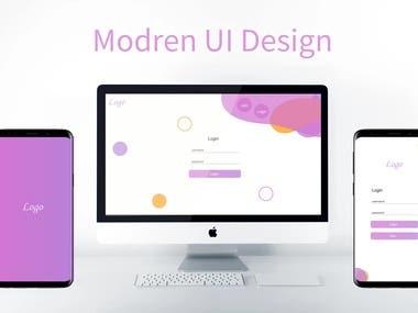 Modern UI UX