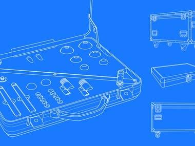 Line art - Vector Cases