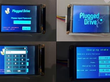 HMI LCD + Modbus RTU