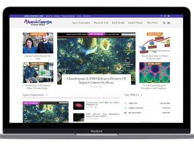 Science Blog website