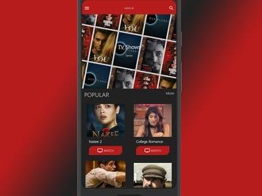 Mobile App Netflix Alike