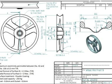 2D component drawings