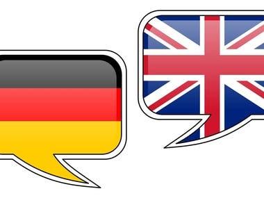 Translation German English CV Resume Cover Letter Texts