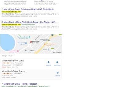 Top 1 ranking of google.ae