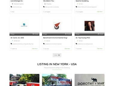 Listing directory website