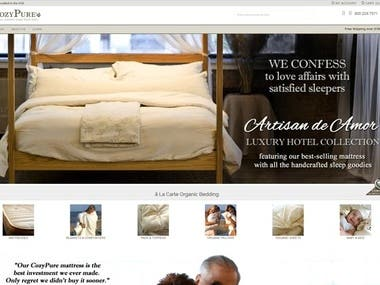 CozyPure Organic Mattresses Website