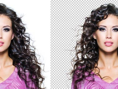 Difficult hair cut background remove
