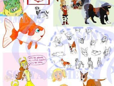 Character/Mascot Designs