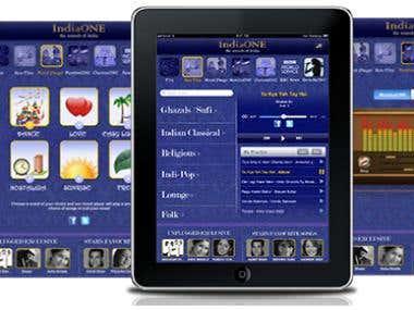 IndiaOne iPad Application
