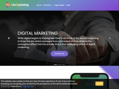Marketing Digital web ( Angular 6 ) ANIMATED