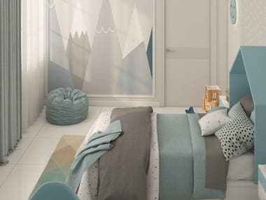 Kids Bedroom II Design & Visualization
