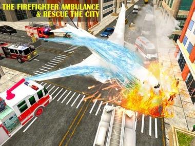Emergency Fire Fighter Ambulance