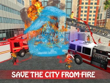 Emergency Fire Fighter Ambulance City Simulator