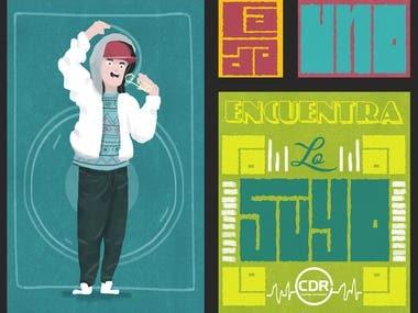 Radio Station Illustration