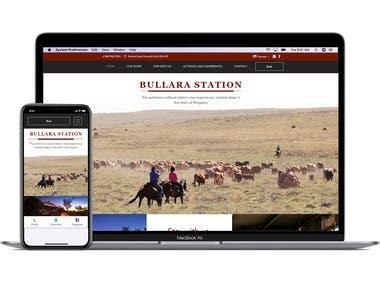 www.bullarastation.com.au - Website, Booking Engine, Social
