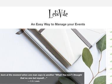 Letsvite Event Management Portal Testing