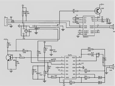 Schematic Design (JSN SR04T) Ultrasonic Water Level Sensor