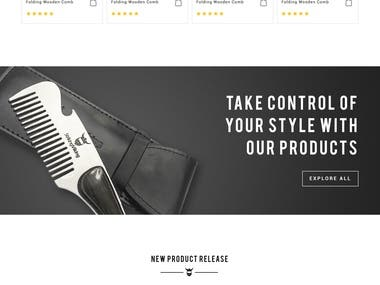 Website Design for Men's Grooming