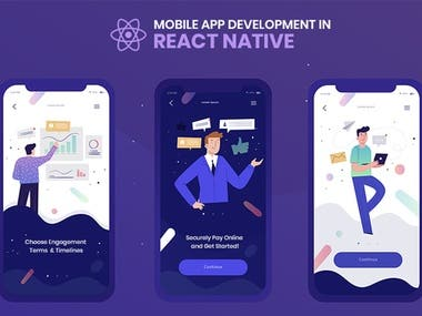 Mobile react native app