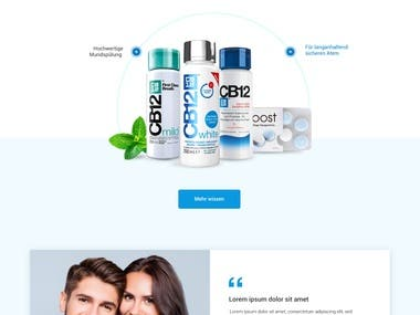 Mouth Wash Product Website Design