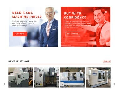 CNC Machinery Website