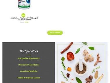 Woocommerce website for Harvestin Natural