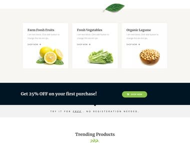 Organic Store - (E - Commerce Website