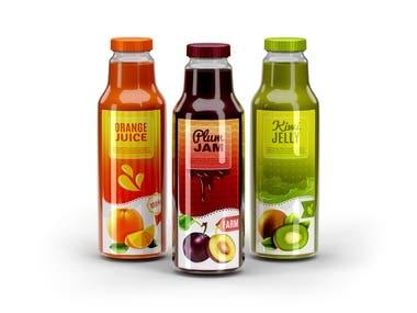 juice bottle 3d model and render