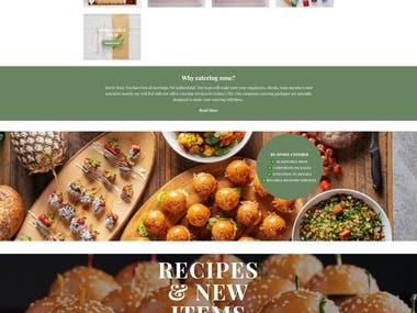 Online Food website.