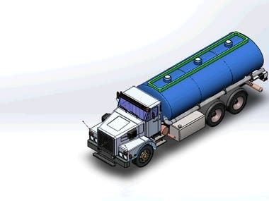 Truck modeled in SolidWorks