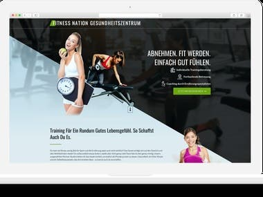 Fitness Nation Landing Page Development