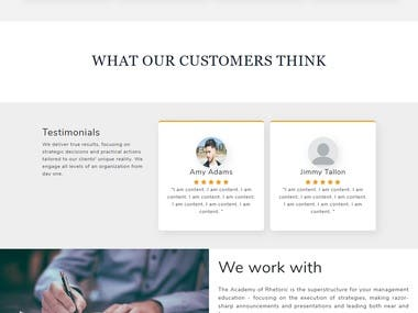 A business website design design 2