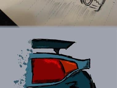 Illustration burnouts