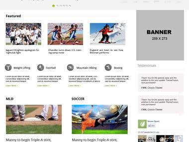 Seven Sports wordpress theme