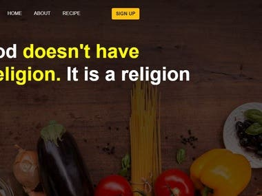 A food blog website