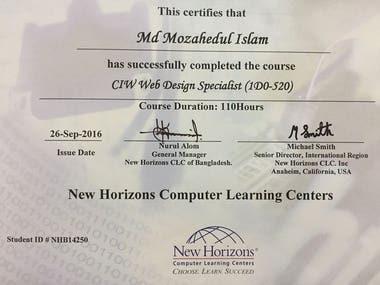 Certified Web Designer