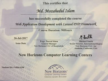 Certified Web Developer
