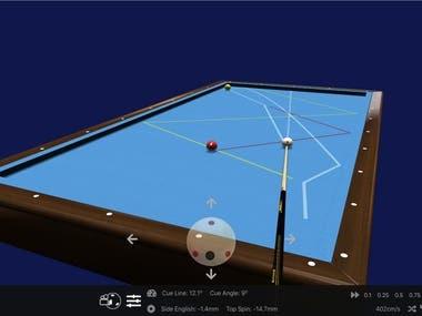 WebGL Carom Billiard Simulator