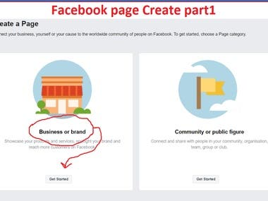 Facebook Professional Page create