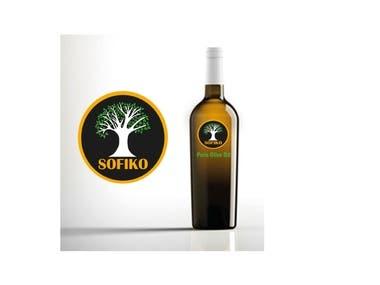 Isologo design for olive oil