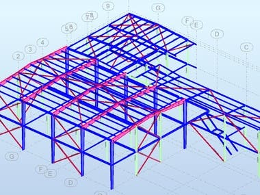 Steel building design