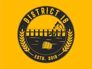 DISTRICT 16   Logo Design