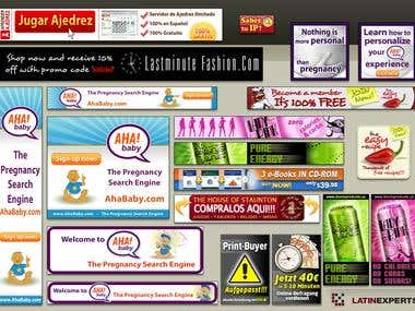 Banners for websites and AdSense