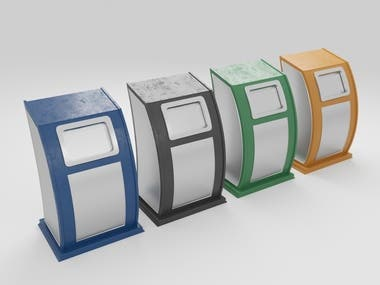 3D Design Ideas | Litter Bins