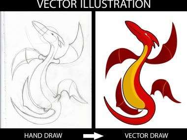 hand draw to vector