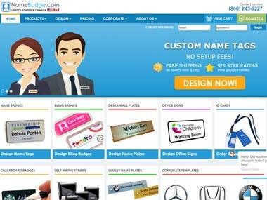 PHP Custom Namebadge website