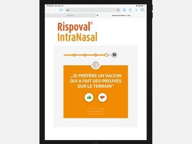 Rispoval Quiz Page Development