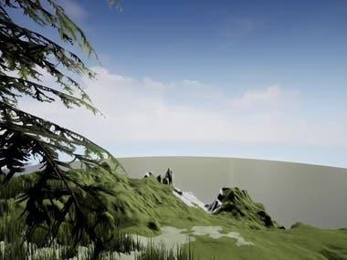 3d landscape environment